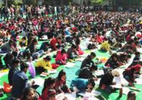 मेगा आर्ट इवेंट : बच्चों ने पेंटिंग द्वारा बताया- कैसा हो स्वच्छ भारत