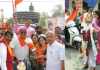 चेटीचंड पर्व पर सिंधी समाज ने विशाल वाहन रैली निकाली