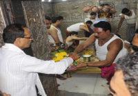 गर्भगृह में प्रवेश बंद था, मुख्यमंत्री ने सोला नहीं पहना, इसलिए बाहर से किए दर्शन