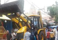 महाकाल मंदिर के आसपास से अवैध दुकानें हटना शुरू