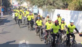 स्वस्थ भोजन का संदेश लेकर यात्रा आगर रवाना,25 यात्री साइकिल से जाएंगे दिल्ली