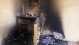 कांग्रेस नेता की दुकान में चोरी कर लगा दी आग
